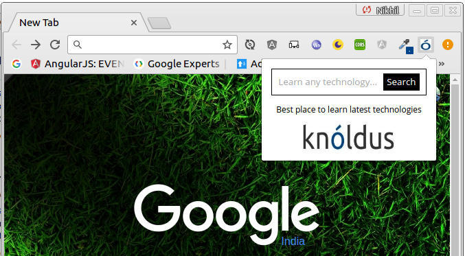 Knoldus Blog Chrome Extension