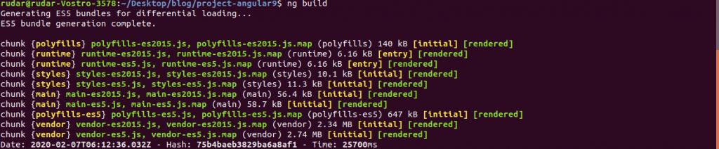 Build image Angular 9