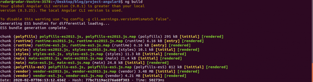Build image Angular 8