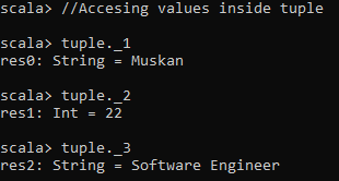 Accessing values in tuple